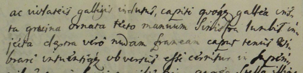 latin címerleírás részlete